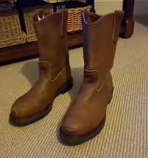 red wing pecos leather work boots safety size 9 uk
