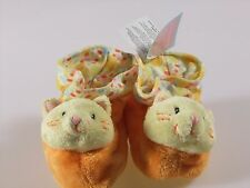 Russ Berrie Baby Booties Plush Cat Kitten Size 0-10 Months Shower Gift Shoes New