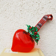 SEARS ROEBUCK AND CO - CHRISTMAS MEMENTOES -ORNAMENTS GLASS RED HEART