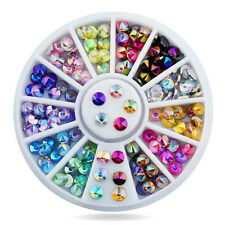 3D Nail Shining Rhinestone Decoration Colorful Sharp Studs Top for UV Gel Tips