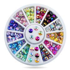 3D Nail Decoration Colorful Shining Rhinestone Sharp Top for UV Gel 1 Box DIY