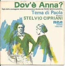 """STELVIO CIPRIANI - Dov'e' Anna - VINYL 7"""" 45 LP 1976 OST NM COVER VG+ CONDITION"""