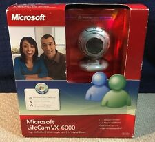 Microsoft LifeCam VX-6000 Wide Angle Lens 3X Digital Zoom w/Call Button NIB