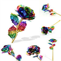 Multi-Color Plated Rose Romantic Valentine's Day Lover Friend Best Gift FG
