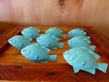 8 AQUA FISH DRAWER CABINET PULLS HANDLES KNOBS HOOKS restoration hardware beach