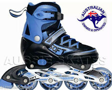 Boys Kids Adjustable Roller Blades Rollerblades Inline Skates Euro 31-34 US1-3