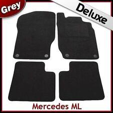 Tailored LUXURY 1300g Carpet Car Mats for Mercedes ML W164 Mk2 2005-2011 GREY