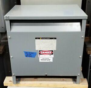 30 KVA Square D Transformer Voltage 600 Delta 208Y/120 1 Yr GRNTE!!! WILL SHIP