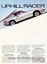 1978 Porsche 924 - Uphill Racer - Original Advertisement Print Art Car Ad J678