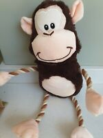Squeaky cheeky monkey Dog Toy Doggy xmas Christmas Present tug pull rope new