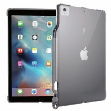 For Apple iPad Pro 12.9 Poetic Lumos Case With Ultra-Thin Impact Resistant Gray