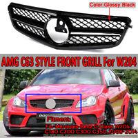 For Mercedes W204 C230 C280 C300 C350 2008-2014 Black Front Bumper Grille Grill