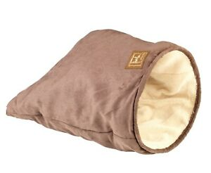 Gor Pets Crinkle Cat Sleeping Bag Brown Suede