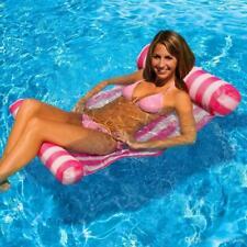 Cama Inflable + Bomba de Aire Agua Piscina Flotante Flotador Silla Hamaca Lounge