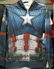 Marvel captain america zip-up hoodie