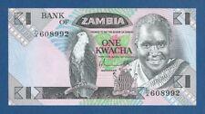 ZAMBIA -- 1 KWACHA ND ( 1980 - 88 ) -- SC- // aUNC -- PICK 23a .