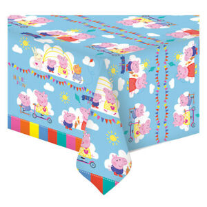 Peppa Pig Plastic Party Table Cover Peppa Pig Birthday Party Supplies Tableware