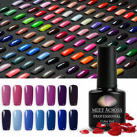 MEET ACROSS 7ml Gel Nail Polish Soak Off UV/LED Manicure Gel Nails Varnish Salon