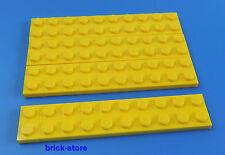 LEGO 2x10 Plaque Jaune / 4 pièces