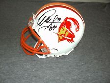 WARREN SAPP AUTOGRAPHED TAMPA BAY BUCCS THROWBACK  MINI HELMET