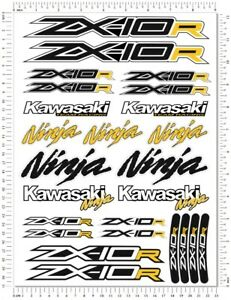 Ninja Racing ZX-10R Motorcycle Decals Fairing ZX10R Laminated Stickers Quality