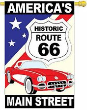 Route 66 Historic Route 66 w/Vette House Flag 15043-TG