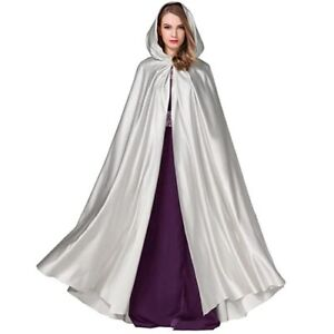 Halloween Hooded Cloak Satin Hood Vampire Cape Halloween Cape Cosplay Costume