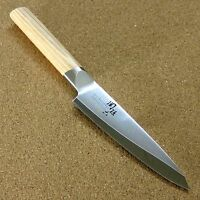 "Japanese KAI SEKI MAGOROKU Kitchen Petty Utility Knife 120mm 4.7"" 3 Layers JAPAN"