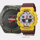 Authentic Casio G-Shock Men's Maroon & Yellow Classic Digital Watch GA100CS-9A
