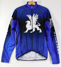 DESCENTE Raglan CYCLING JERSEY Long Sleeve Full Zip in Blue MEN'S MEDIUM