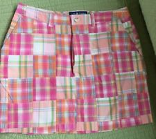 CAPE MADRAS PINK,GREEN AND ORANGE MULTI COLORED PLAID COTTON SKIRT SIZE 8 NWOT!