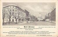 Washington, DC - Hotel Potomac - ADVERTISEMENT - Capitol, old cars