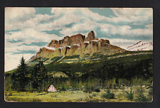 c1910 Indian teepee at Castle mountain near Lake Louise Canada Rockies postcard
