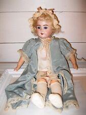 Beautiful Antique Armand Marseille Doll German Bisque Sleepy Eyes Teeth 17 in.