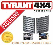 [TYRANT 4X4] Ford Everest Black Bonnet Vent Cosmetic Trims Engine hood scoop