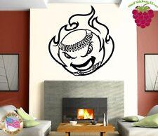 Wall Stickers Vinyl Decal Baseball Sport Ball Fire ig786