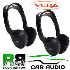 Veba Carl Infra Red IR Roof Mounted Screen Wireless Headphones AVHEAD2IR PAIR