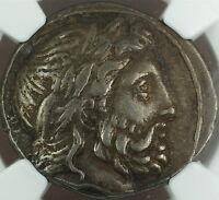 Philip II 359-336 BC Silver Tetradrachm Ancient Coin Kingdom of Macedon NGC VF