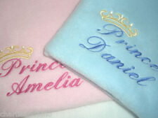 PERSONALISED PRINCE OR PRINCESS BABY BLANKET
