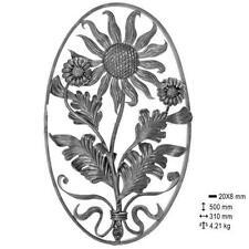 Grille pour décoration avec Fleurs  et feuilles fer forgé ferronnerie