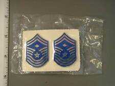 Pair 1970 -1994 USAF issue Chief Master Sergeant with diamond enameled chevron