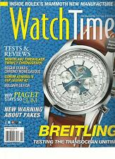 WATCH TIME,  FEBRUARY, 2013 ( THE MAGAZINE OF FINE WATCHES ) TEST & REVIEWS