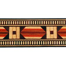 "Beautiful 1.6 x 37"" Egyptian Buffard Frères Marquetry Banding Strips (Inlay-17b)"