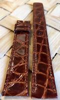Crocodile Skin Genuine MOVADO Brown 16mm Watch Strap Band Retail $90.00