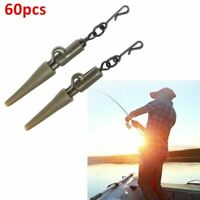 60x Fishing Tackle Carp Lead Clips Tail Cones Quick Change Swivels Hot M6Q9 Y7I7