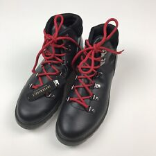 Sorel Weather Boot Black Leather Red Laces Waterproof Size 5 READ