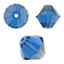 Swarovski Crystal Bicone. Dark Sapphire Color. 4mm. Approx. 144 PCS. 5328