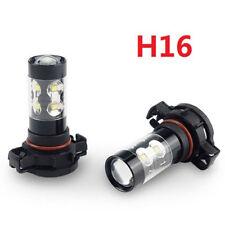 2x 60W 12SMD 2400LM White H16 PS24W 5202 High Power LED Fog Driving Light Bulbs