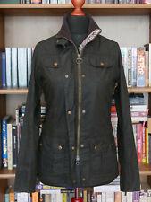 £199 Ladies Barbour Morris Utility olive green wax jacket size UK 8 US 4 EU 34