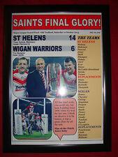 St Helens 14 Wigan Warriors 6 - 2014 Grand Final - framed print